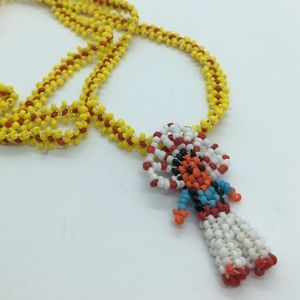 Jewelry - Vintage Seed Bead Native American Necklace